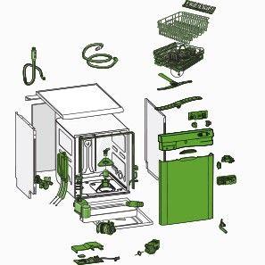 Beko 1732090100 touches Interrupteur 1 positions pour lave-vaisselle