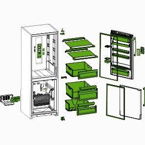pi ces d tach es et accessoires pour r frig rateur. Black Bedroom Furniture Sets. Home Design Ideas