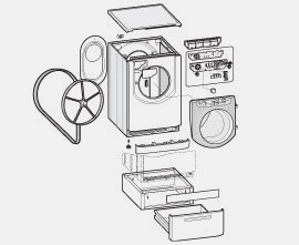 palier roulement pi ces d tach es pour lave linge petits prix sos accessoire. Black Bedroom Furniture Sets. Home Design Ideas