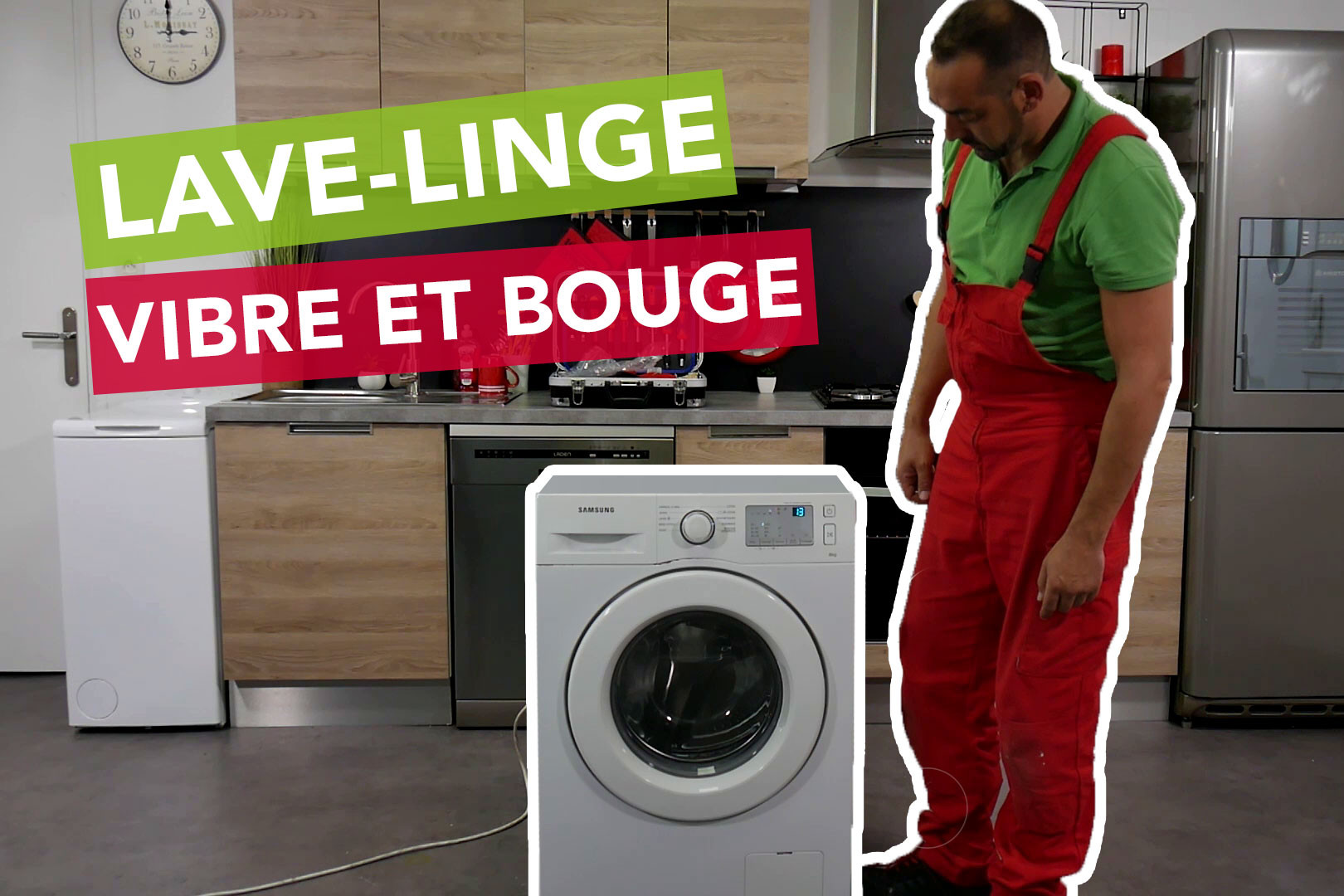 Machine À Laver Et Sèche Linge Intégré pourquoi le lave-linge vibre et bouge ? - sos accessoire