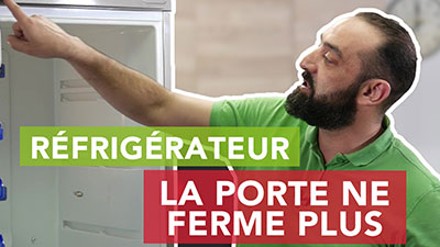 Pourquoi mon frigo ne ferme pas bien ou plus ?