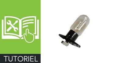Comment changer l'ampoule d'un micro-ondes ?